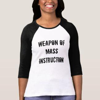 Arma da instrução maciça camiseta