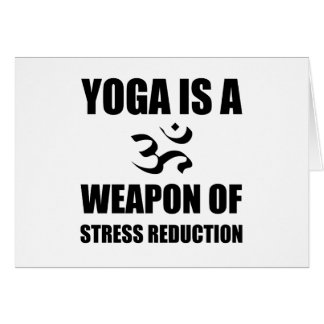 Arma da ioga da redução da tensão cartão