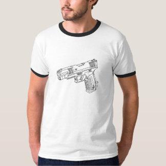 arma da mão da competição camiseta