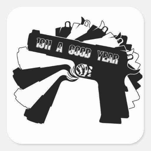 Armario Embutido Quarto Pequeno ~ Arma de fogo 1911 (um bom ano) png adesivo quadrado Zazzle