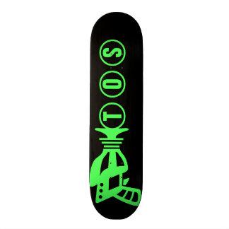 Arma personalizada do espaço shape de skate 18,7cm