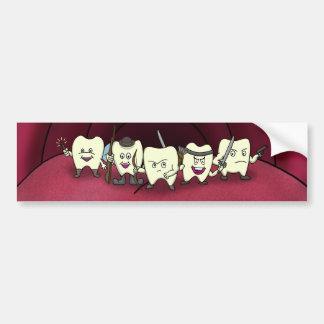 Armado aos dentes adesivo para carro