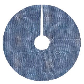Armadura azul do olhar do metal de Chainmail do Cobertura Para Árvore De Natal De Poliéster