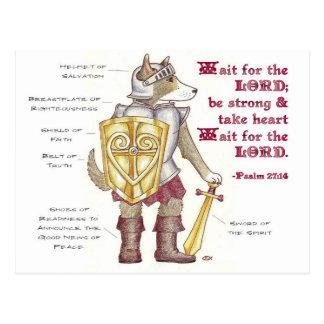 Armadura do cartão inspirado do deus cartão postal