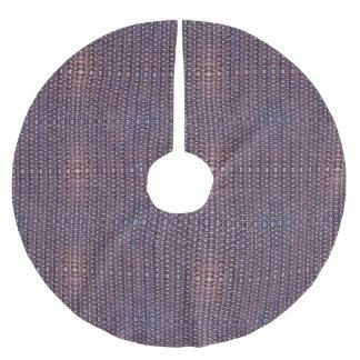 Armadura Titanium anodizada roxo do metal do Saia Para Árvore De Natal De Poliéster