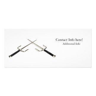 Armas cruzadas de Sai 10.16 X 22.86cm Panfleto