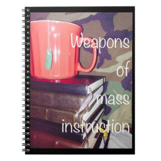 Armas do caderno maciço da instrução