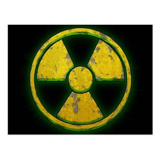 Armas nucleares amarelas cartão postal