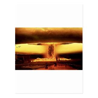 Armas nucleares cartão postal