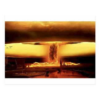 Armas nucleares cartoes postais
