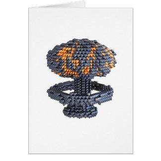 Armas nucleares do coração cartão comemorativo
