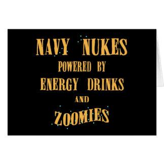 Armas nucleares do marinho pstas por bebidas e por cartão comemorativo