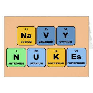 Armas nucleares elementares do marinho cartão comemorativo