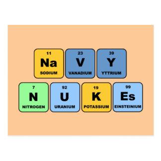 Armas nucleares elementares do marinho cartão postal