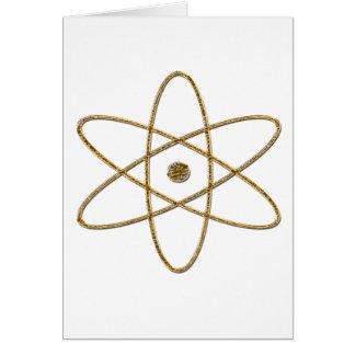 ARMAS NUCLEARES (ouro) Cartão