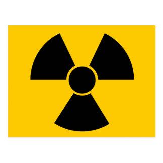 Armas nucleares pretas cartão postal