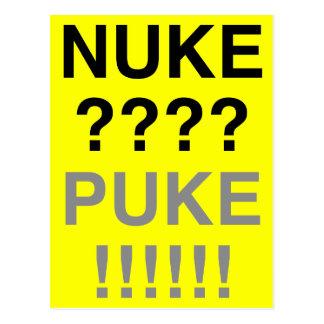 Armas nucleares? Puke? Cartão Postal