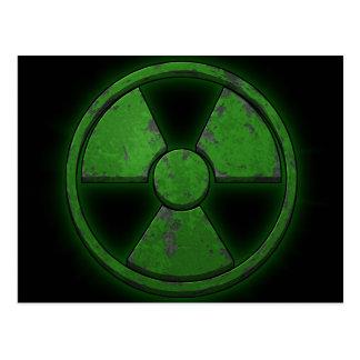 Armas nucleares verdes cartão postal