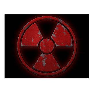 Armas nucleares vermelhas cartão postal