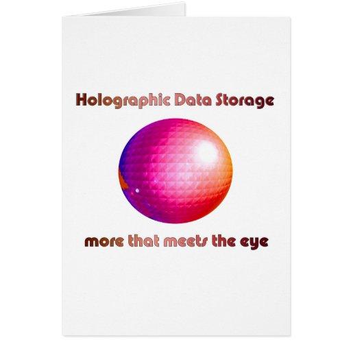 Armazenamento de dados holográfico cartoes