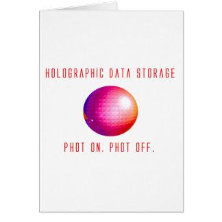 Armazenamento de dados holográfico cartão comemorativo