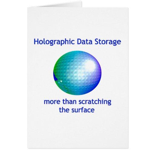 Armazenamento de dados holográfico cartões