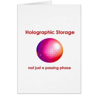 Armazenamento holográfico cartão comemorativo