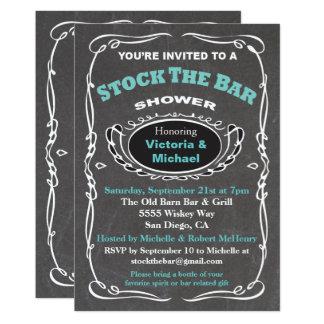 Armazene o convite do chá de casamento do bar