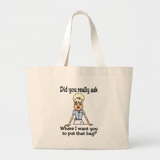 Armazene o saco bolsas de lona