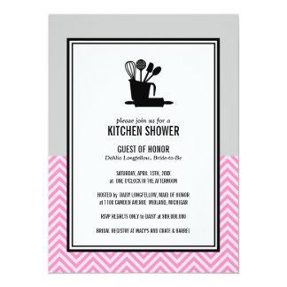 Armazene os chás de panela da cozinha convite 13.97 x 19.05cm