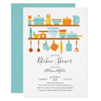 Armazene os convites do chá da cozinha