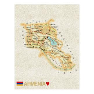 ♥ Arménia dos CARTÃO do MAPA