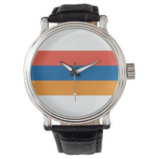 Arménio: Relógio da correia de couro do preto do