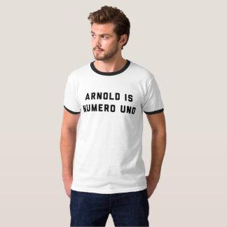 Arnold é halterofilismo da ONU de Numero Camiseta