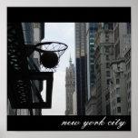 Aro de basquetebol na Nova Iorque. Poster