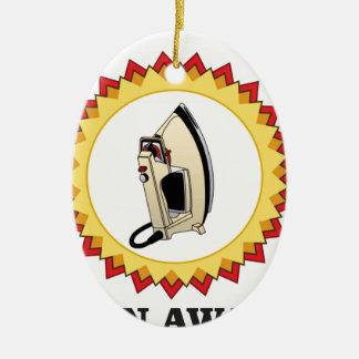 aro do prêmio do ferro ornamento de cerâmica oval