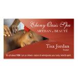Aromaterapia da terapia da massagem dos termas do  cartao de visita