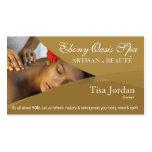 Aromaterapia da terapia da massagem dos termas do  cartões de visitas