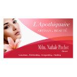 Aromaterapia da terapia da massagem dos termas do  modelo cartões de visitas