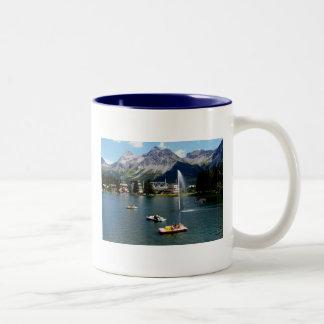 Arosa na suiça caneca de café em dois tons