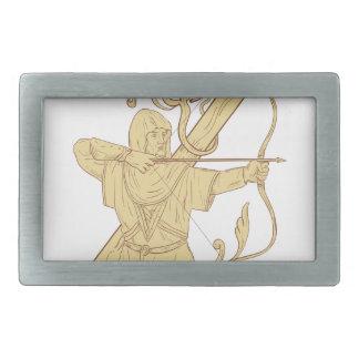 Arqueiro medieval que aponta o desenhar da letra Z