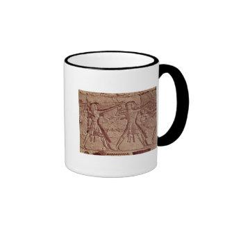Arqueiros, detalhe da caça de Ramesses III Canecas
