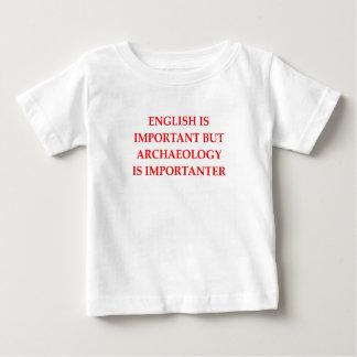 arqueologia camiseta para bebê