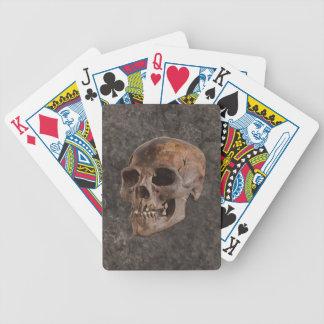 Arqueologia II - Crânio no fundo do Pedra-efeito Cartas De Baralho
