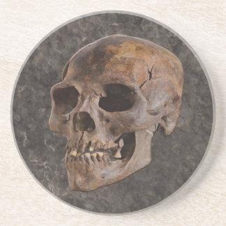 Arqueologia II - Crânio no fundo do Pedra-efeito Porta Copos De Arenito