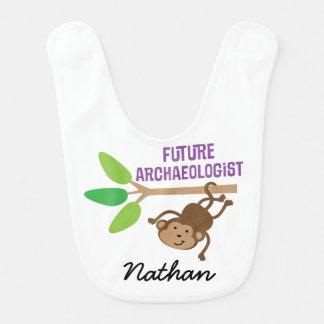 Arqueólogo futuro babador personalizado do bebê