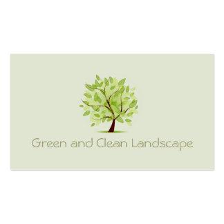 Arquitectura paisagista da árvore limpa verde cartao de visita