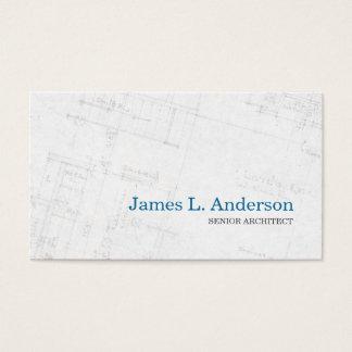 Arquiteto - cartão de visita da planta baixa
