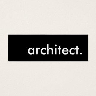 arquiteto cartão de visitas mini