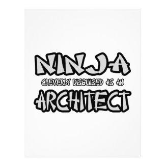 Arquiteto de Ninja… Modelo De Panfletos